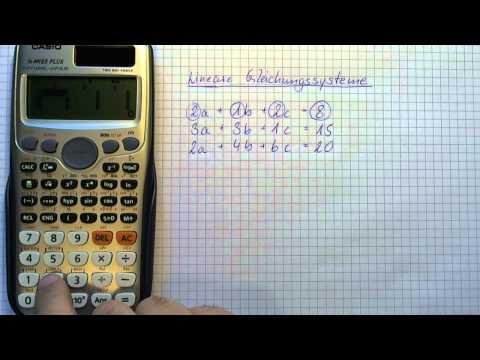 Casio Taschenrechner fx-991es - Lineare Gleichungssysteme