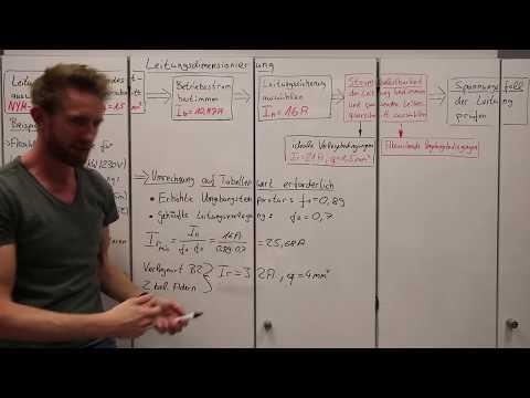 4.6.6 Leitungsquerschnitt bestimmen bei nicht idealen Verlegebedingungen - Leitungsdimensionierung