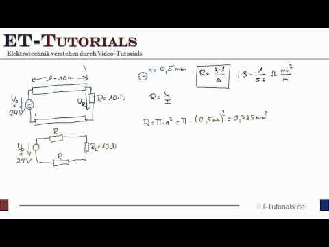Lösung zum Spannungsfall auf einer Leitung.flv